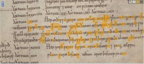 CCC MS 173, f. 29v annotated by DigiPal